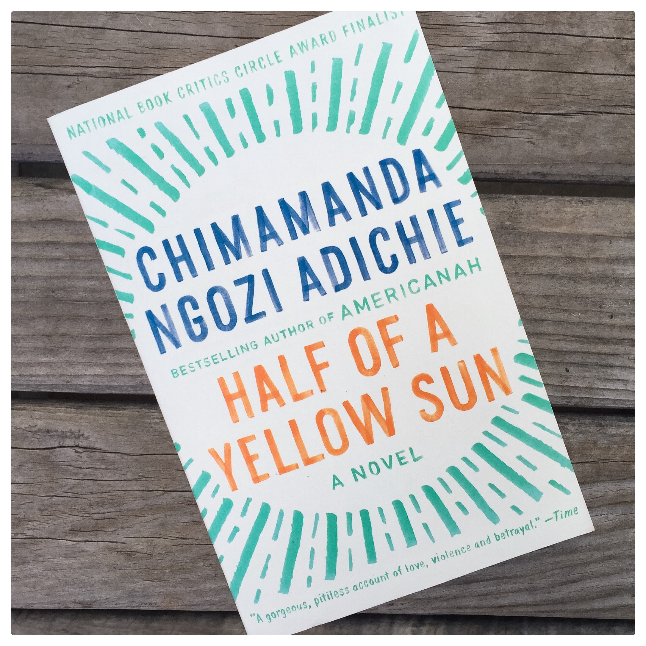 As if you needed another excuse to stay all cozy and warm under your new blanket, Half of a Yellow Sun will give you just that. Another one of our favorite reads!