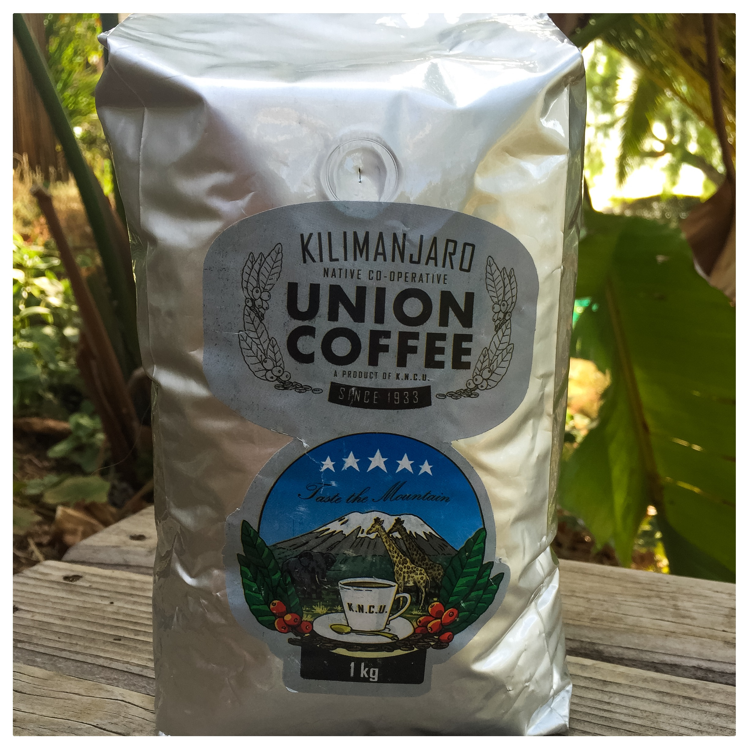 One kilogram of fresh, dark roast coffee. If it tastes half as good as it smells, you're in for a serious treat! Learn more about this Tanzanian co-op  here !