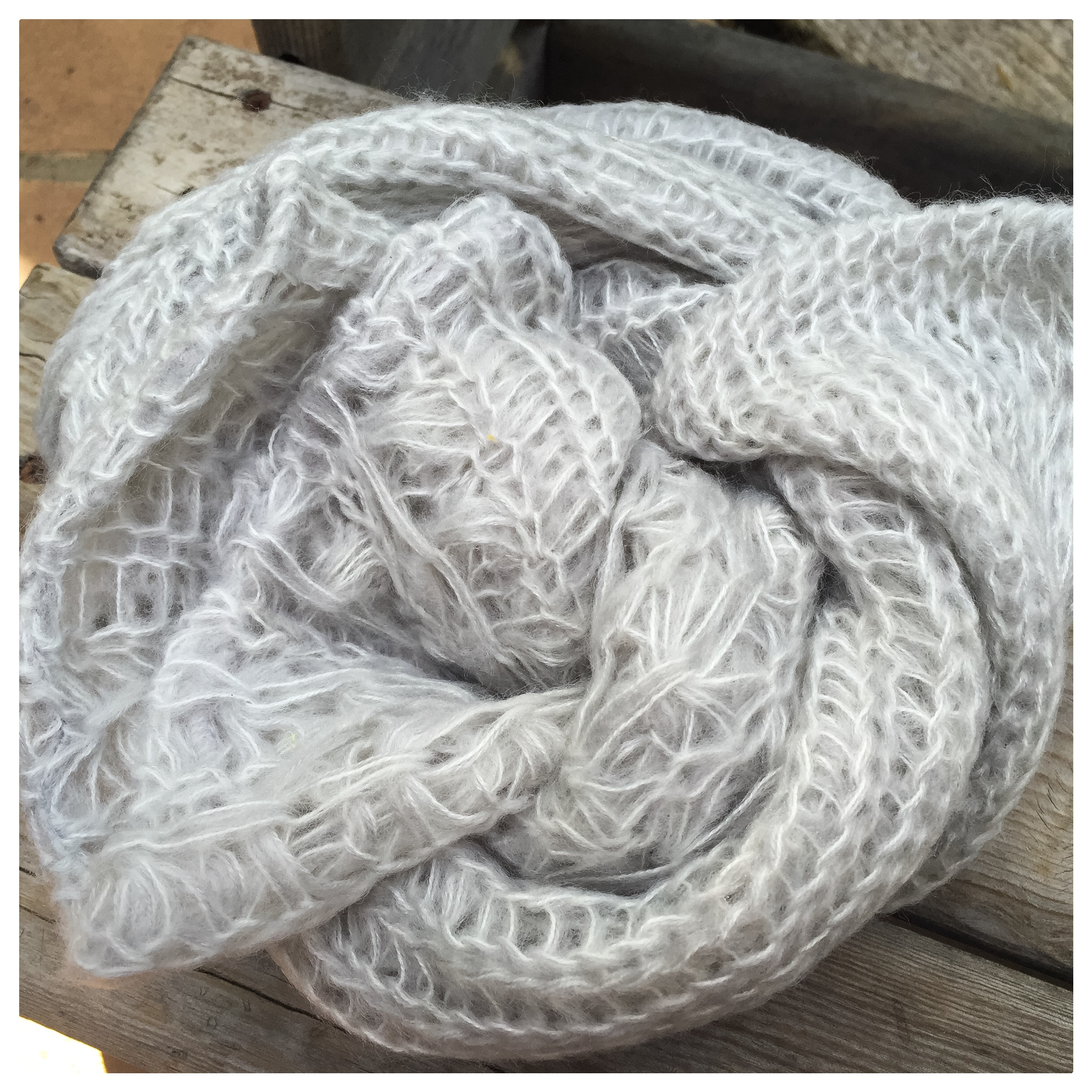 This soft gray infinity scarf lends both style and warmth to any outfit. From BP at Nordstrom.