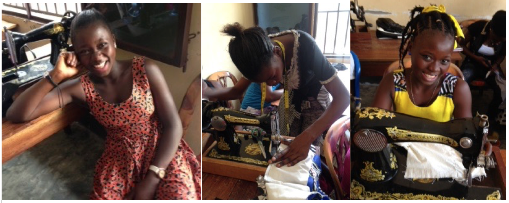 Students thriving at the sewing center