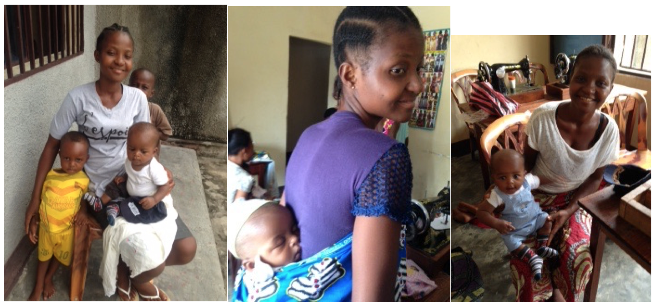 Sarah's children often attend Sewing Training with her. She now has HOPE for the future.