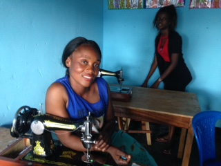 Clarisse - Clarisse is 35 years old and the mother of 2 boys. Both boys are in our Young Scholars program. She was in our first group of women in May 2015. She not only cares for her family, but her mother and niece. Clarisse dreams of having her own boutique!