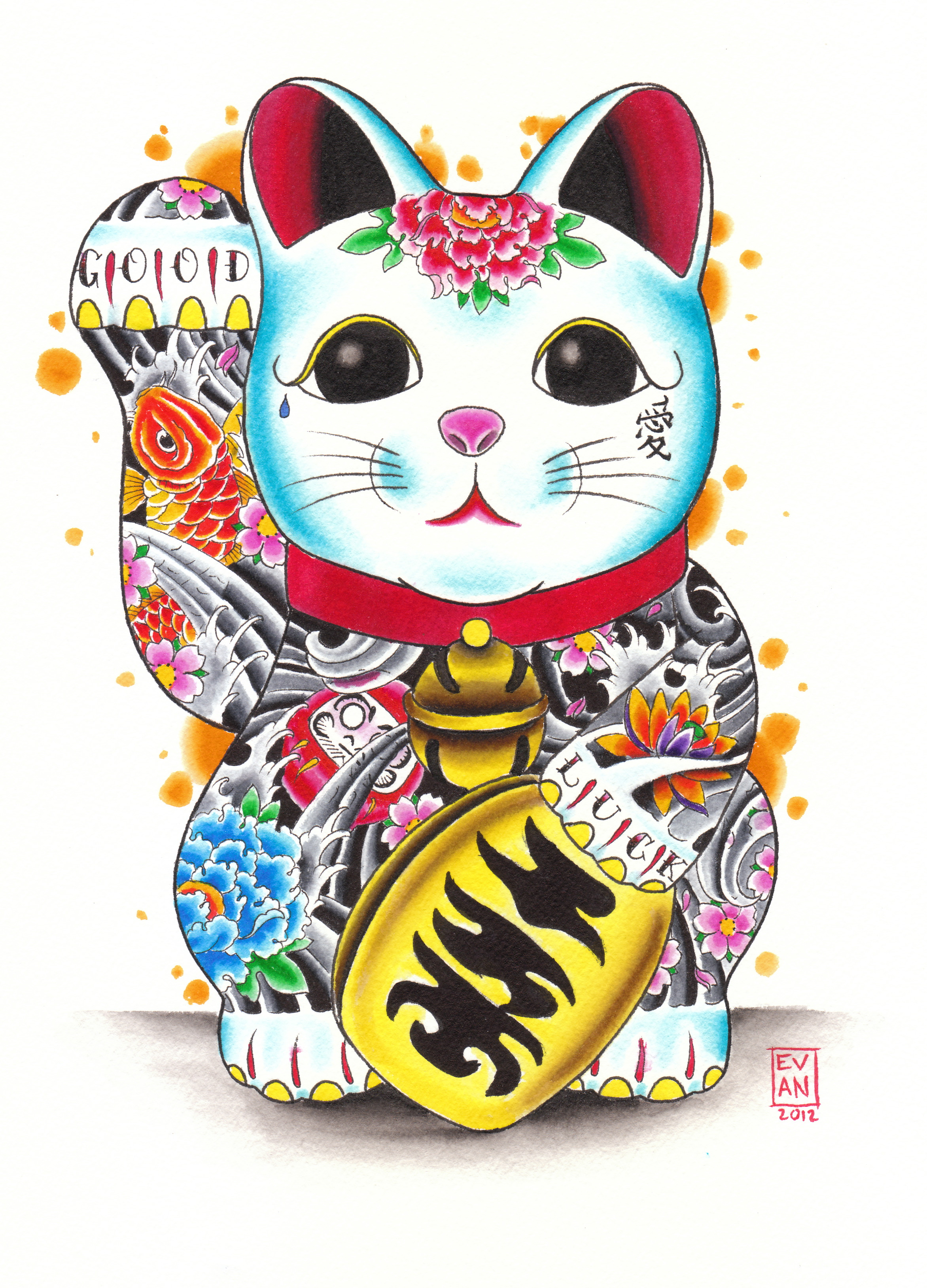 The Maneki-Neko or Beckoning Cat
