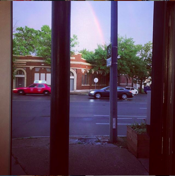 A rainbow I witnessed as a lesson on integrity sunk in last year in St, Louis.