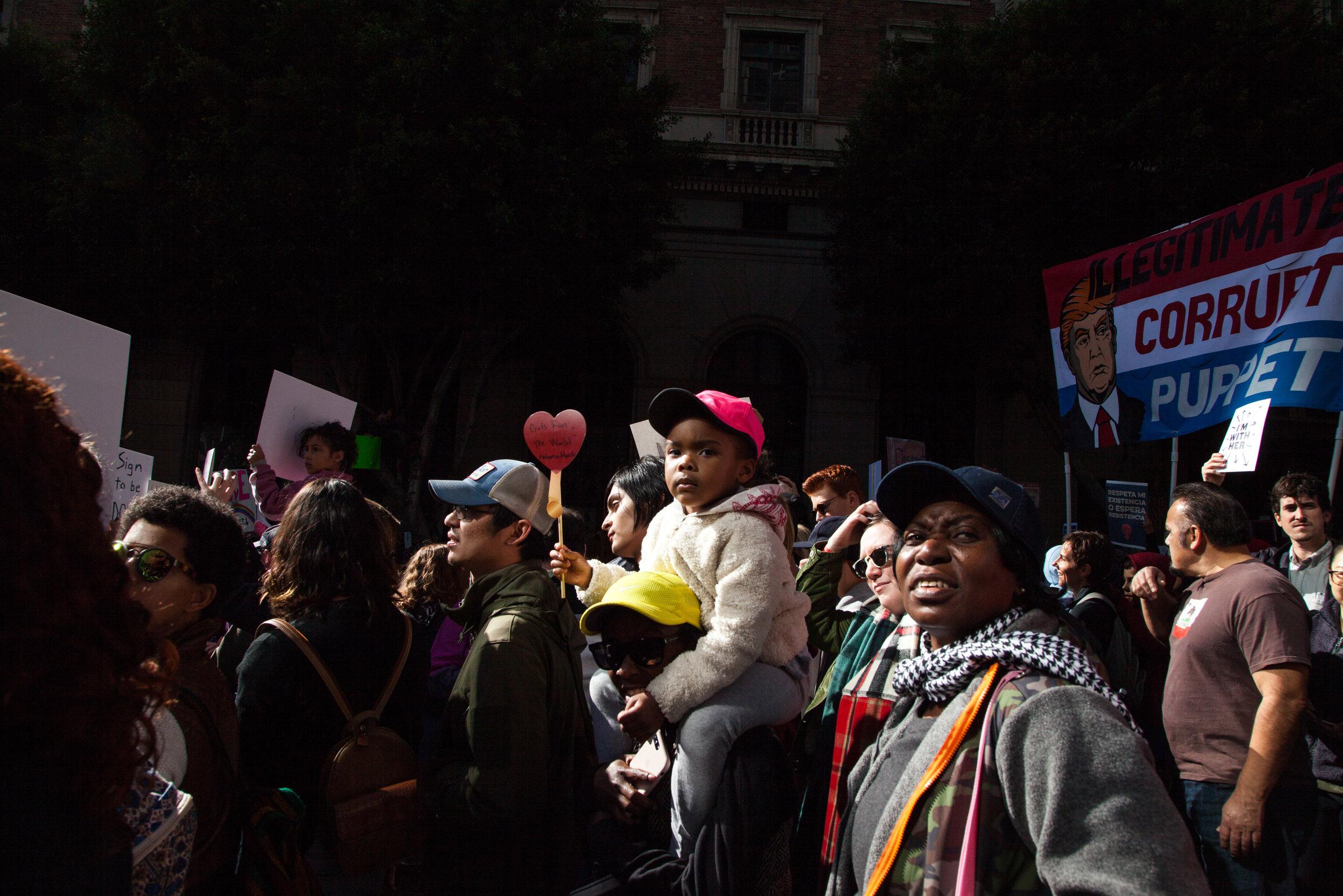 Women's March, Los Angeles 1.21.17