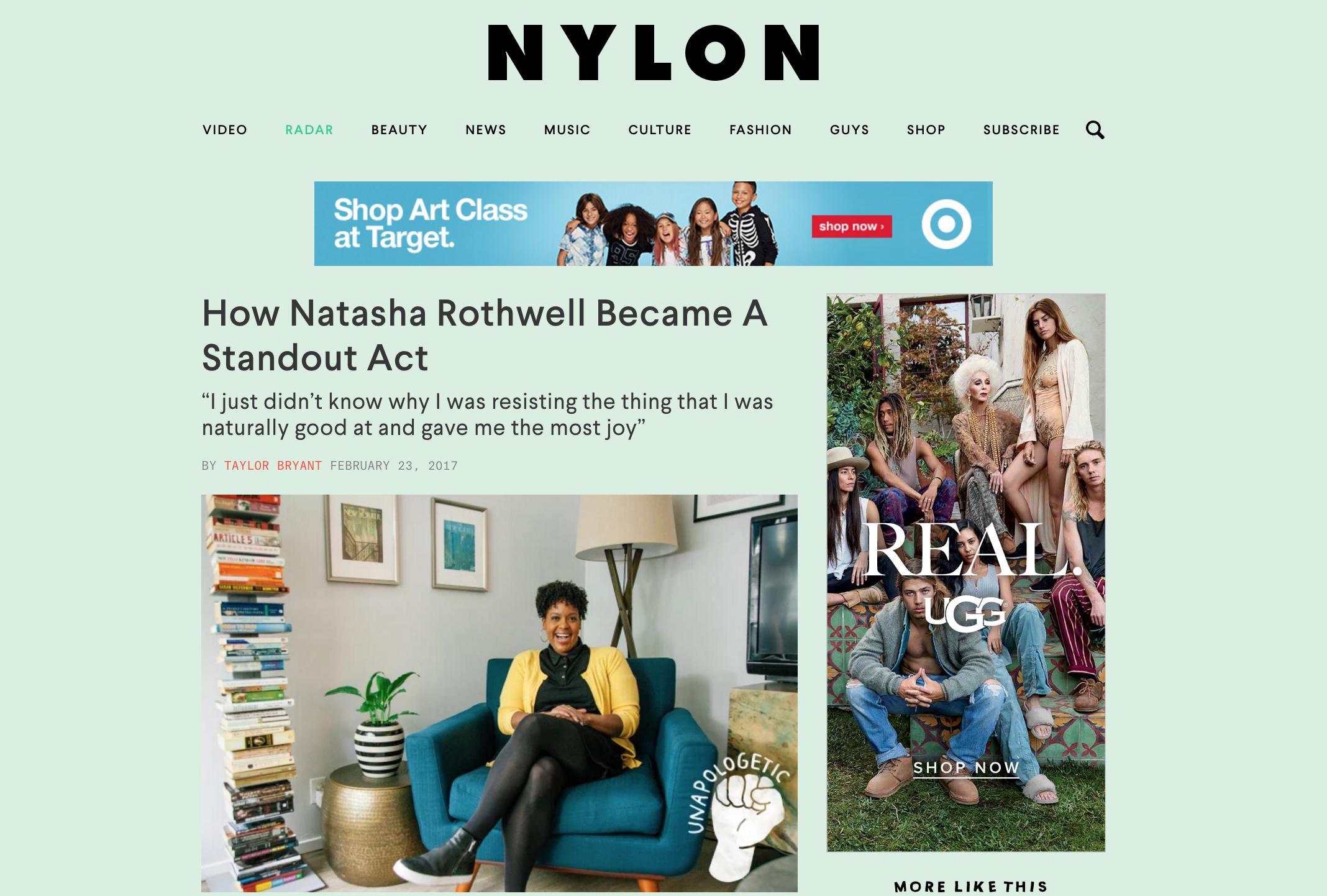 "Nylon Magazine: ""How Natasha Rothwell Became A Standout Act"" - February 2017"