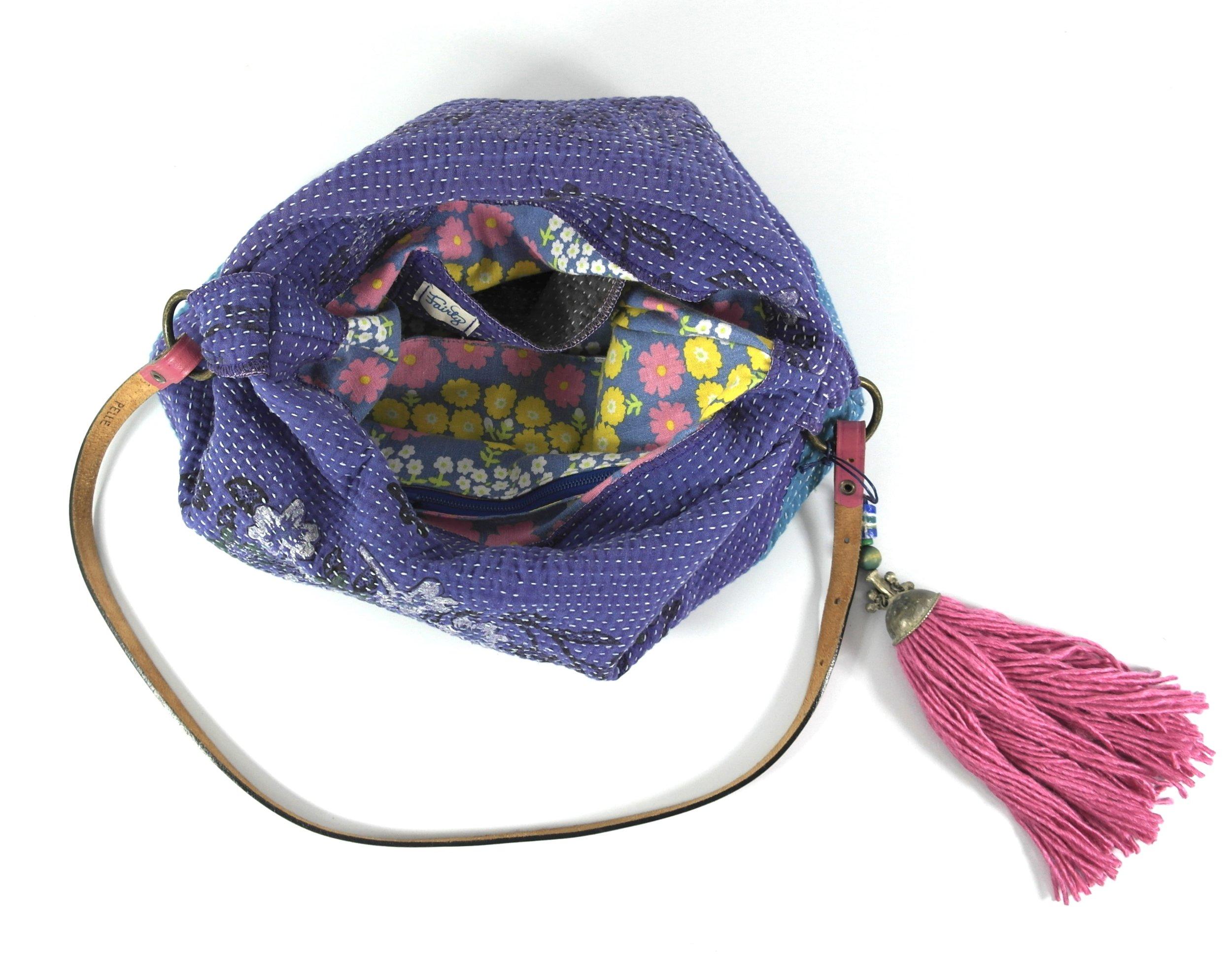 kantha bag inside