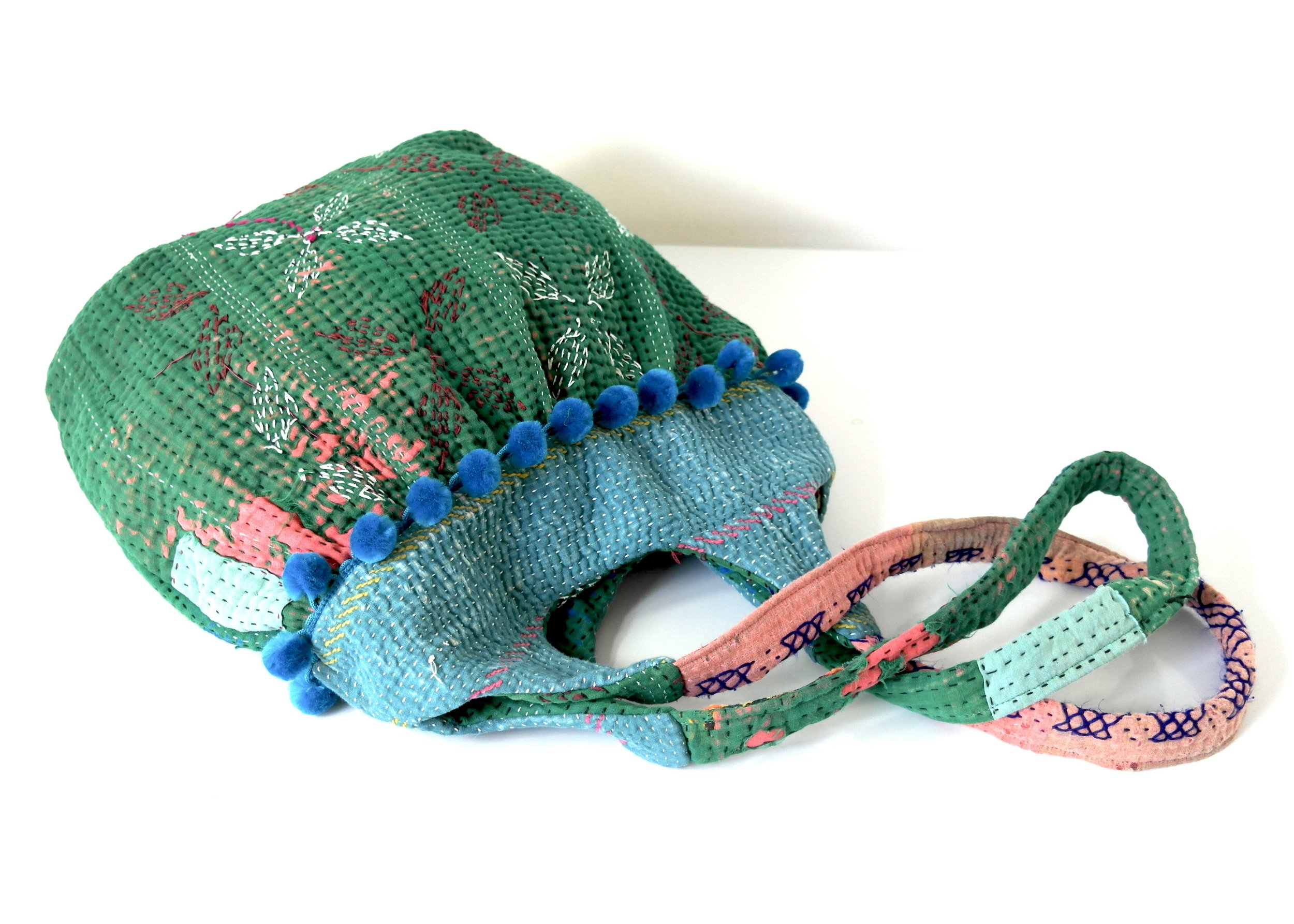 Kantha bag with signs of wear - shabby look!