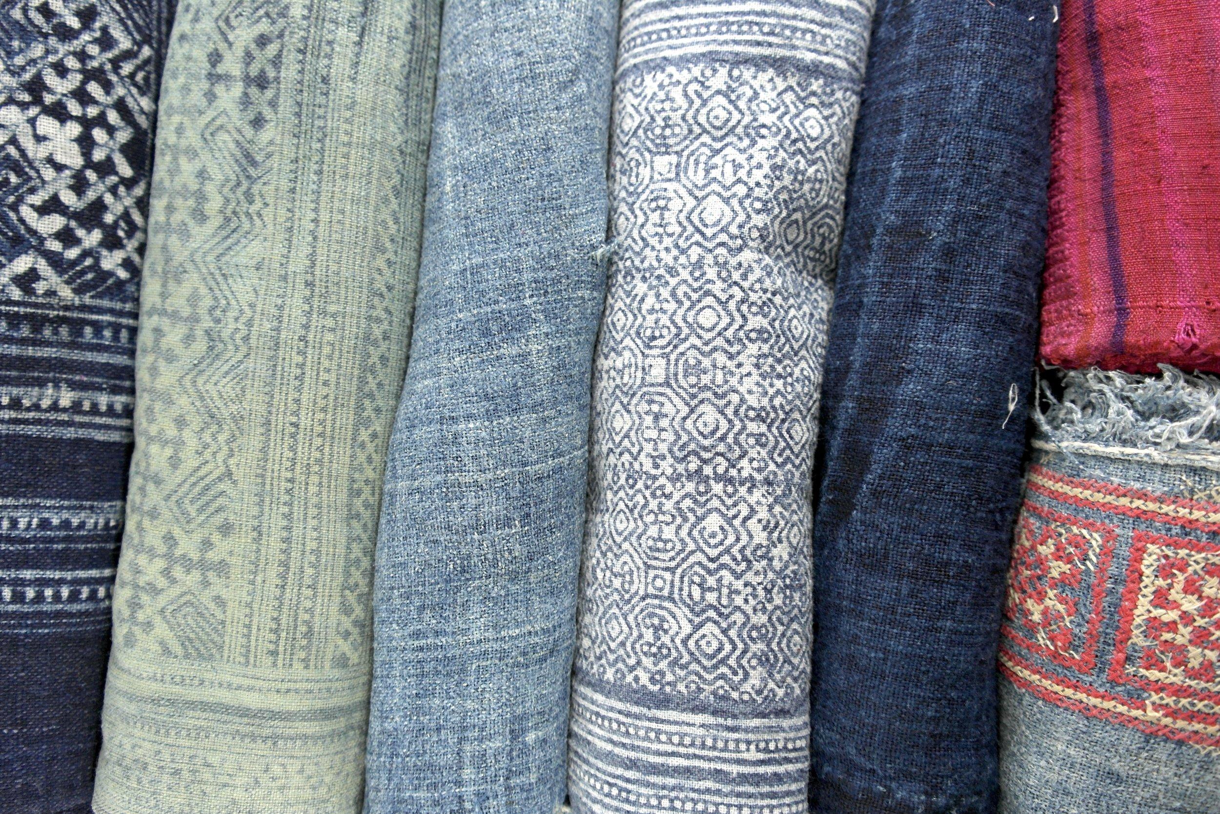 hill tribe fabric rolls