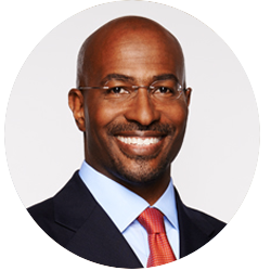 """Van Jones  is the President & Co-Founder of Dream Corps. Current initiatives, #cut50, #YesWeCode, and Green For All, create innovative solutions to """"close the prison doors, open the doors of opportunity, into a new green economy."""" A Yale- educated attorney, Van has written two New York Times Bestsellers:The Green Collar Economy, the definitive book on green jobs, and Rebuild the Dream, a roadmap for progressives.   Full bio >>"""