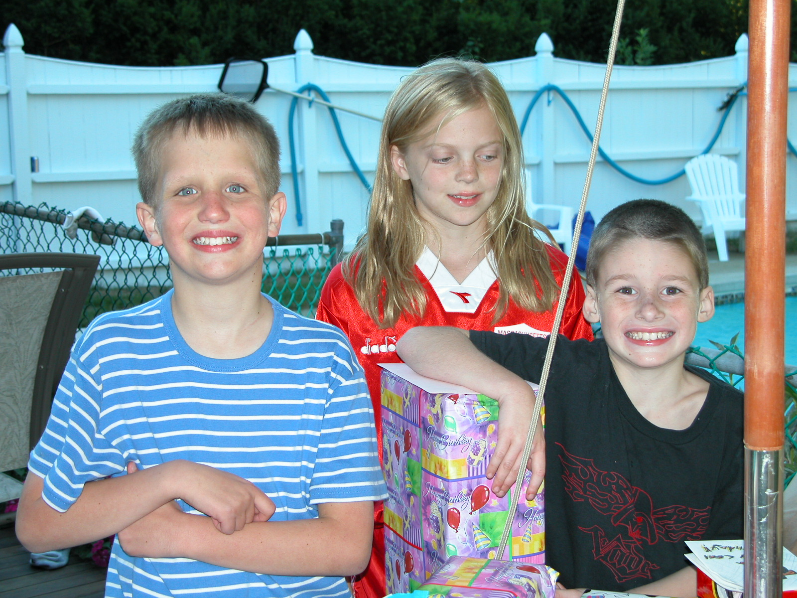 Here's a photo of the birthday kids, Ryan is 11, Jenna is 10 and Jake is 8.