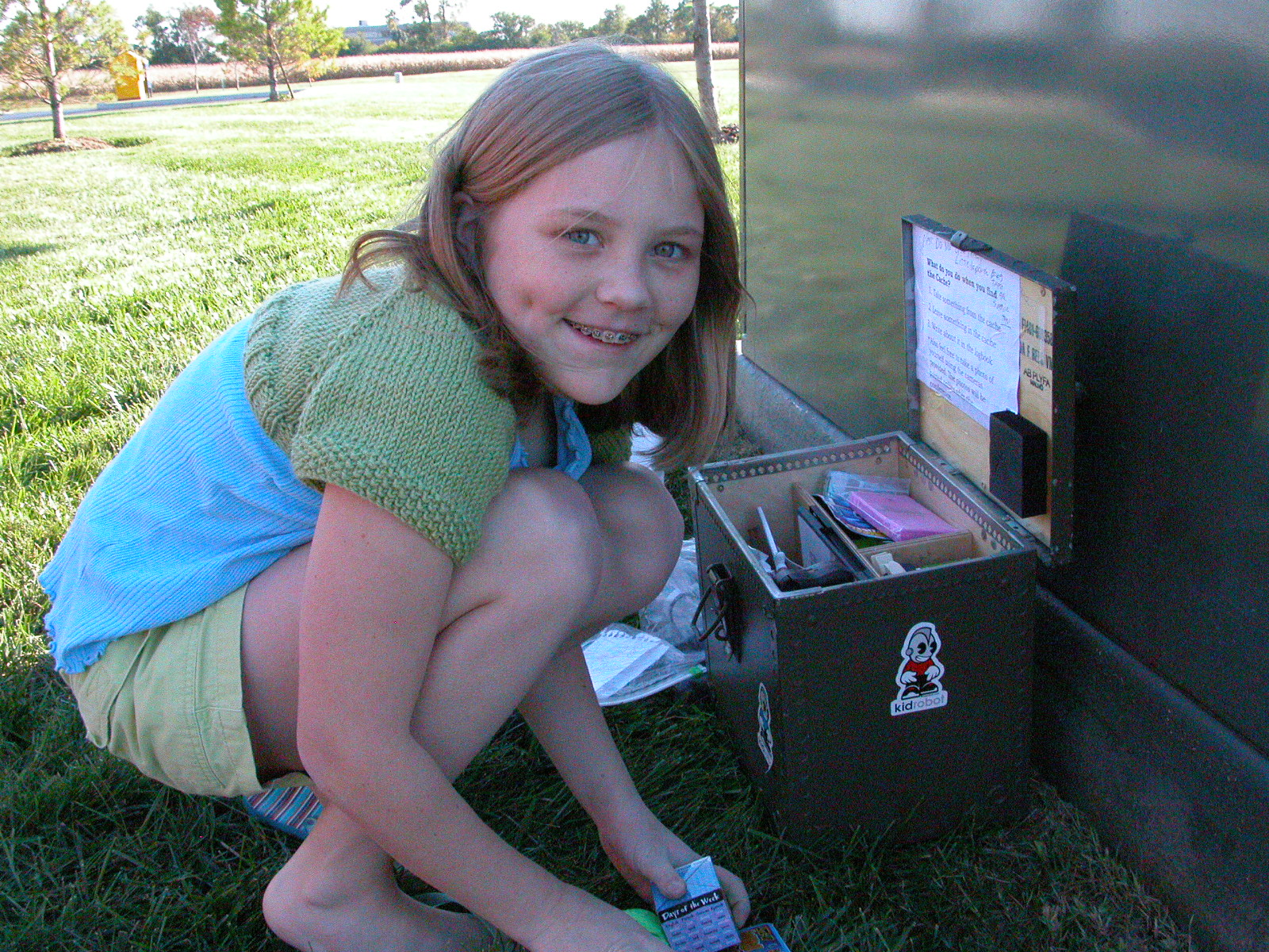 What's in the geocache?