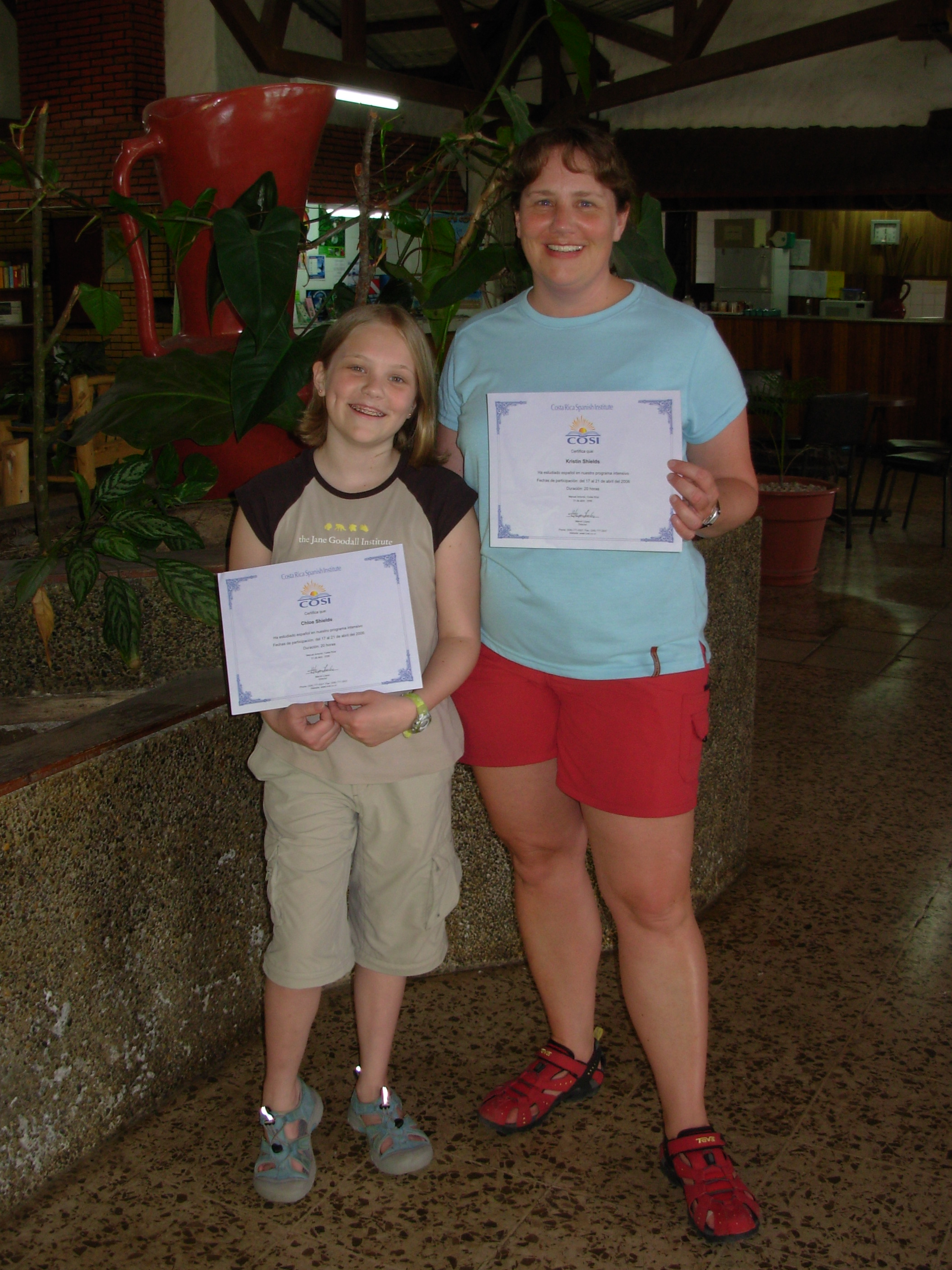 Chloe and I at COSI, the Costa Rica Spanish Institute in Quepos