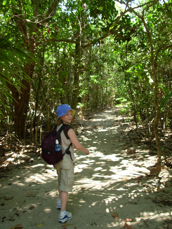 Chloe walking in Manuel Antonio National Park
