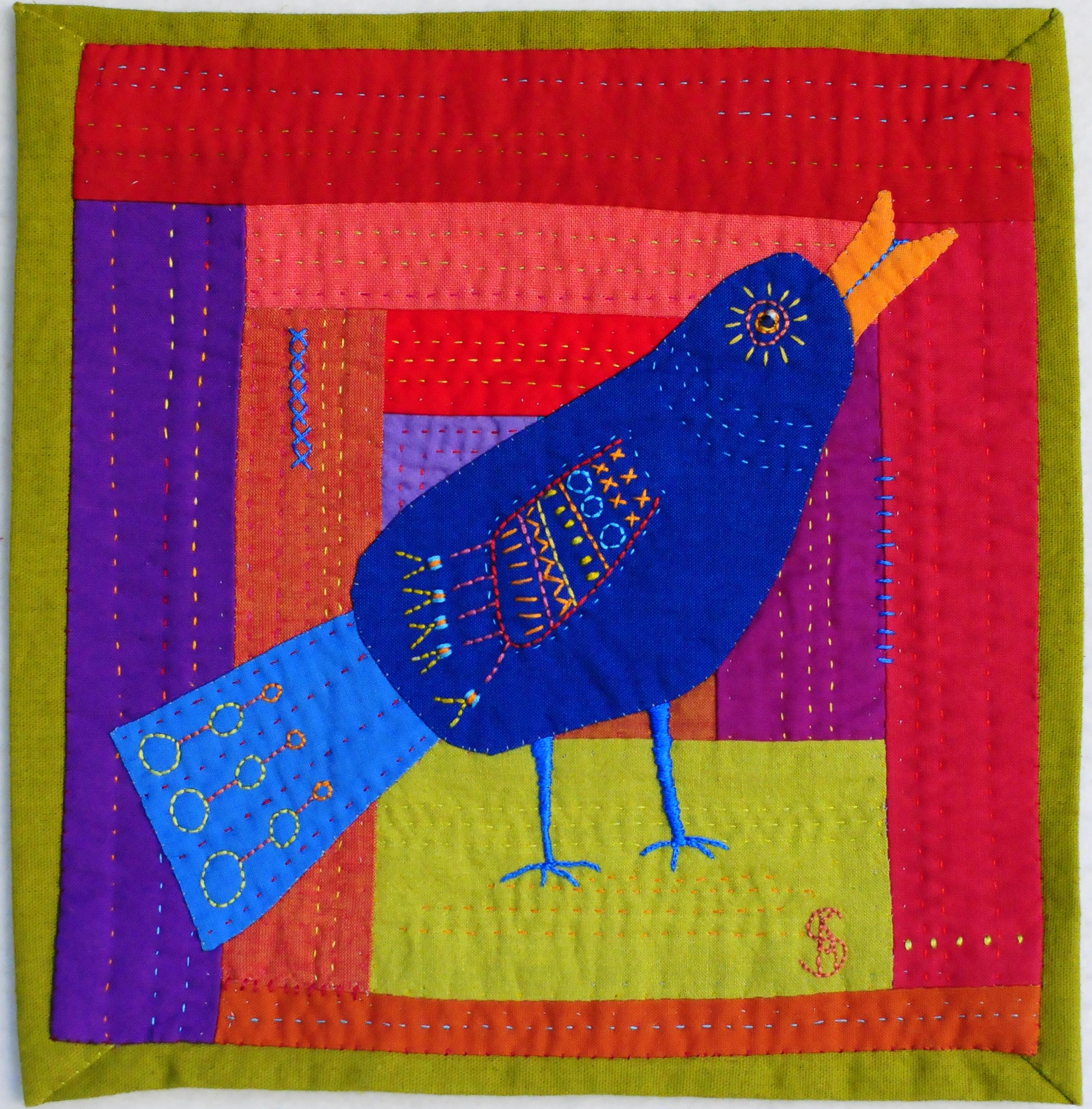 """Singing Bird, 9.5"""" x 10"""". $75"""