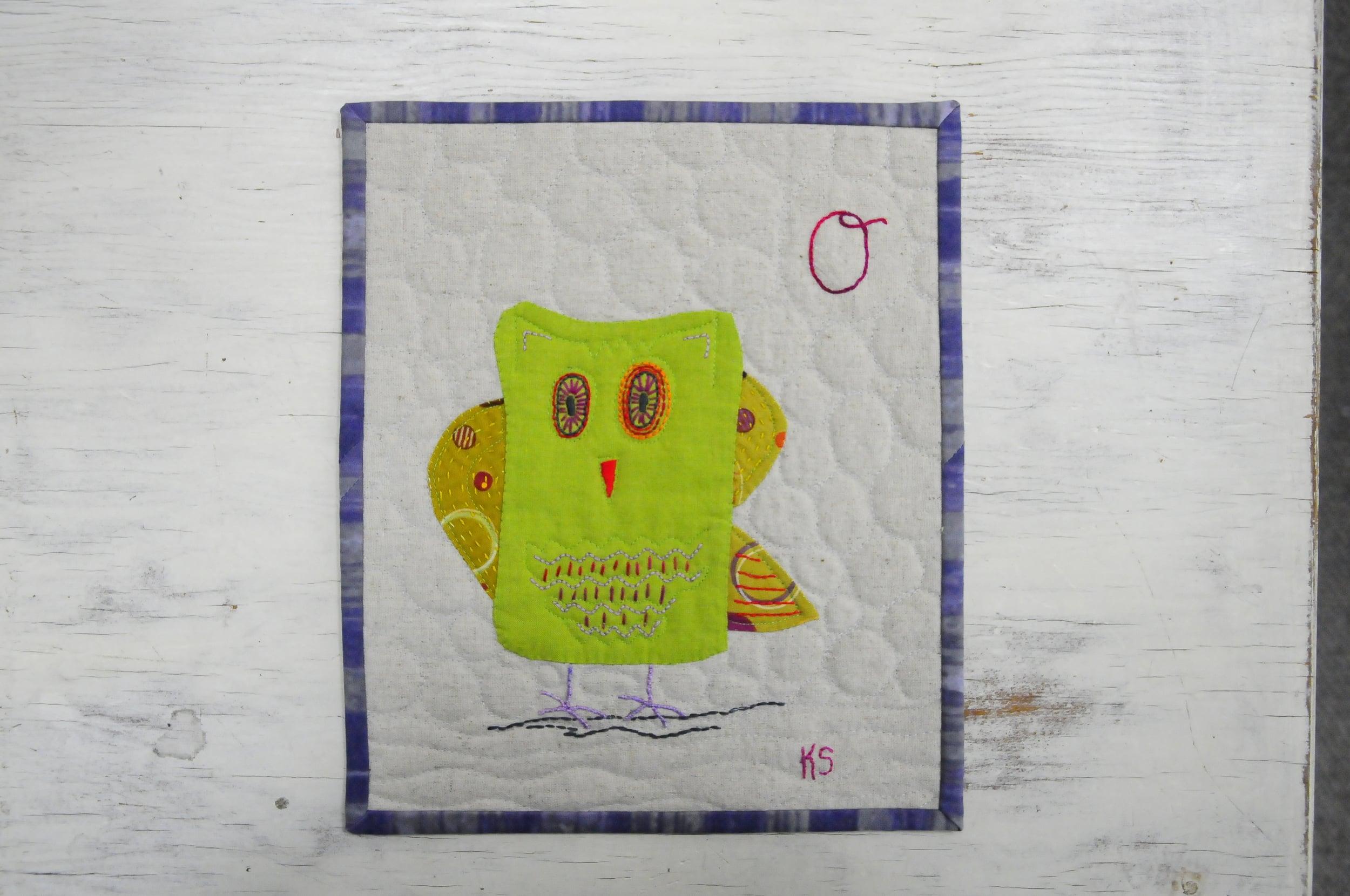 O is for Optimistic Owl