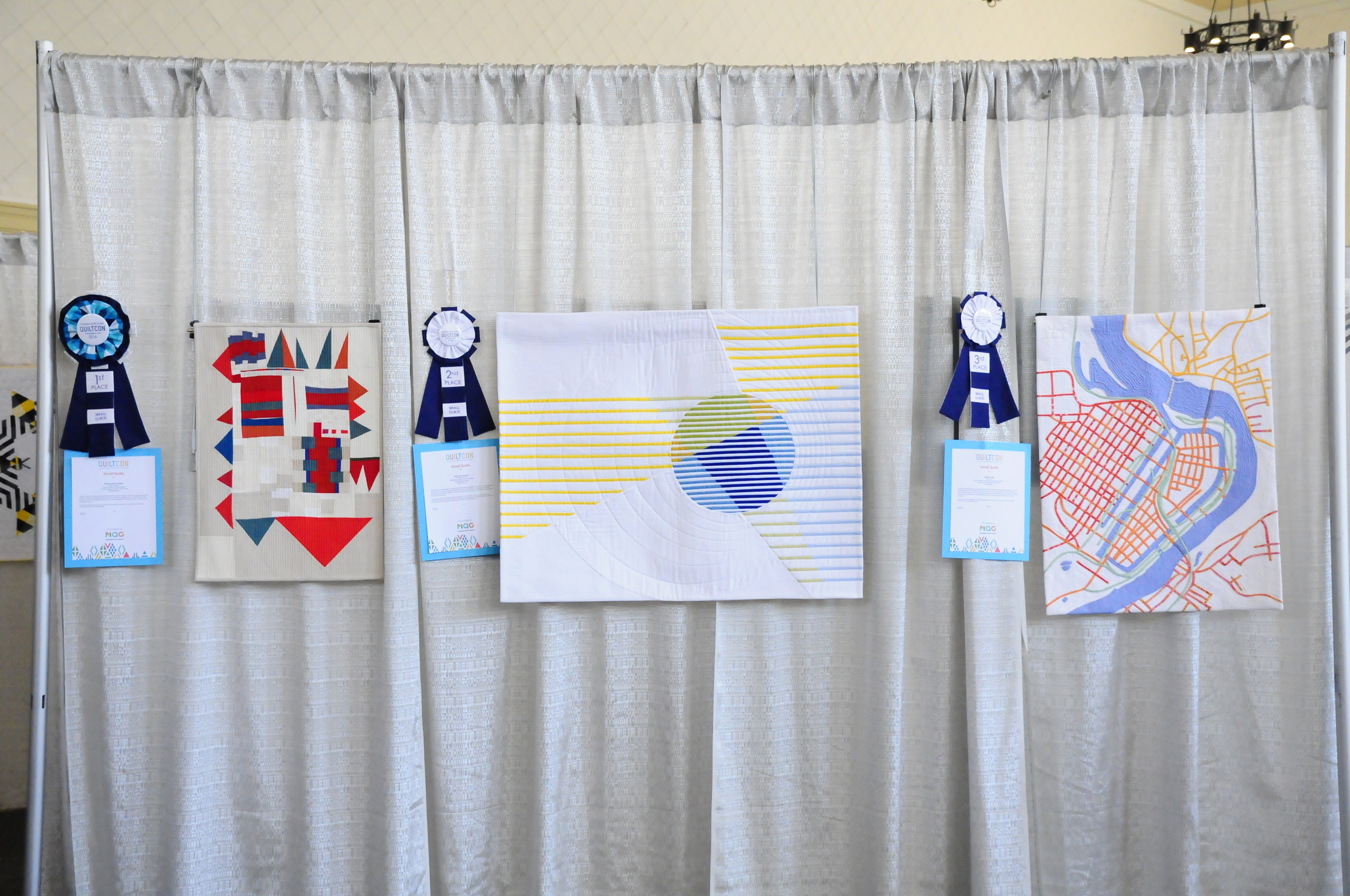 First, Second and Third Place for Small Quilts