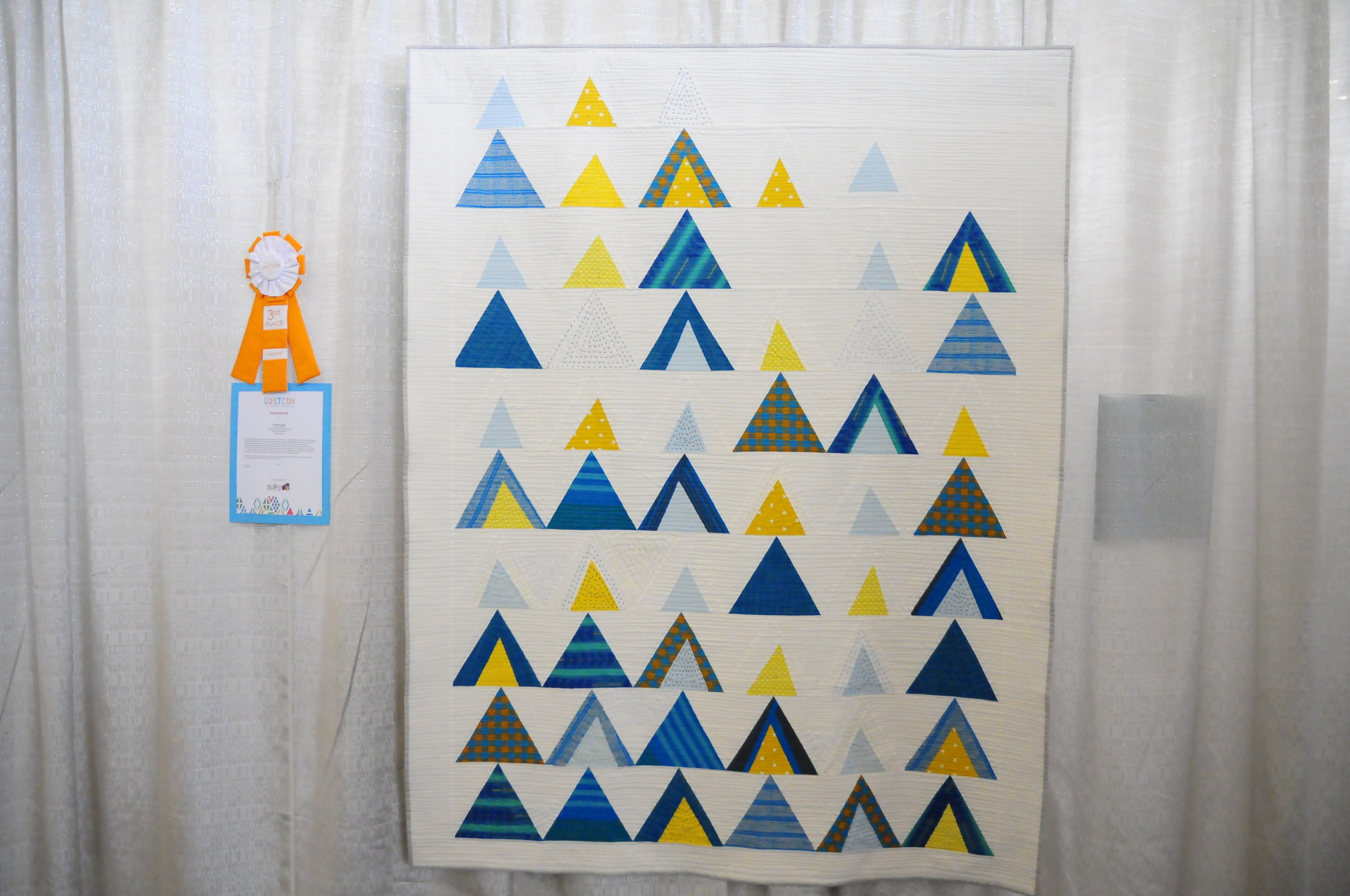 Mod Mountains by Susanne Williams, 3rd Place Handwork