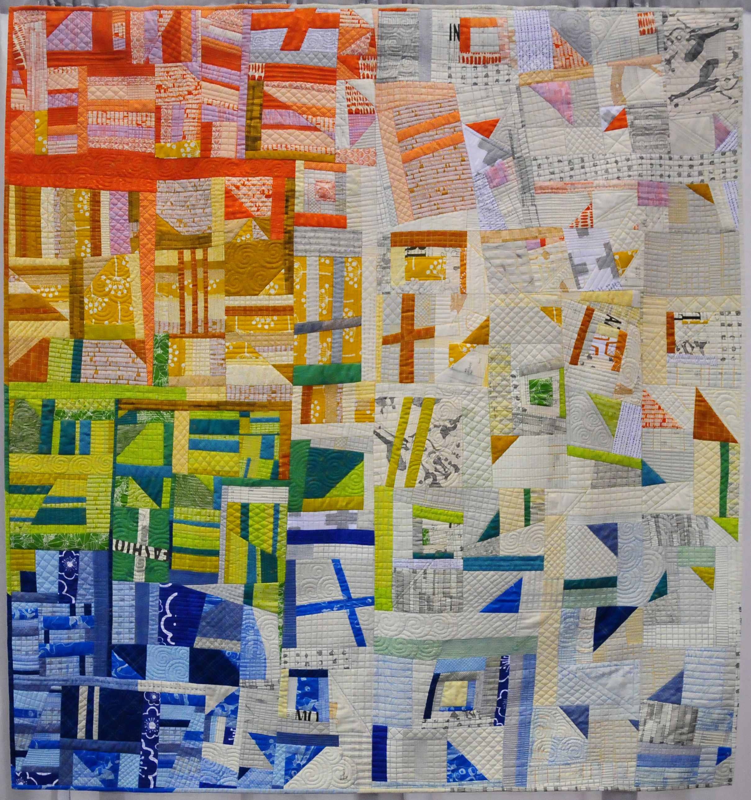 Scattered by Jess Frost ( @ElvenGardenQuilts ), Third Place Improvisation
