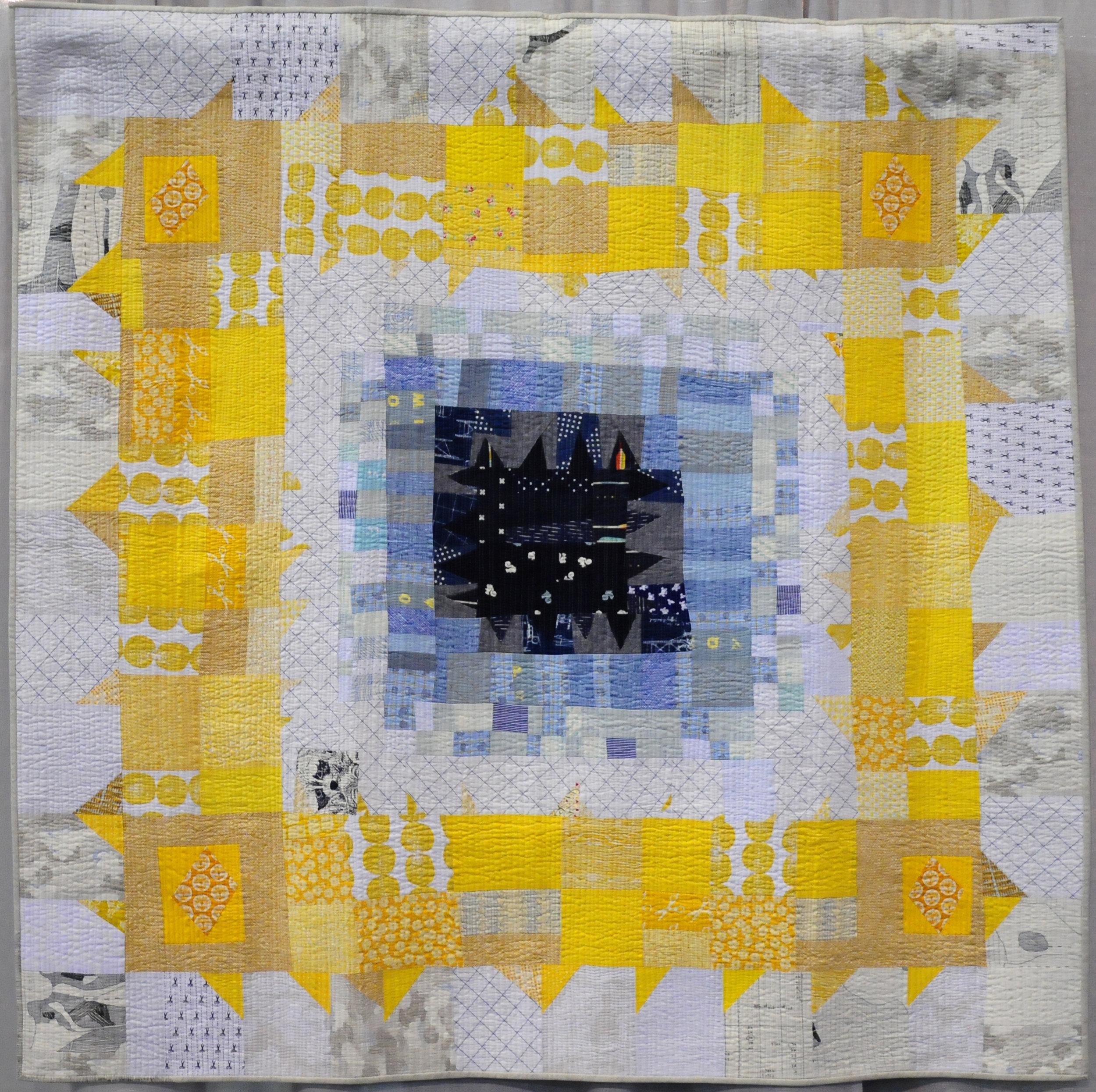 Quilt One Half by Sarah Lowry ( @stitchingandbacon ), detail below