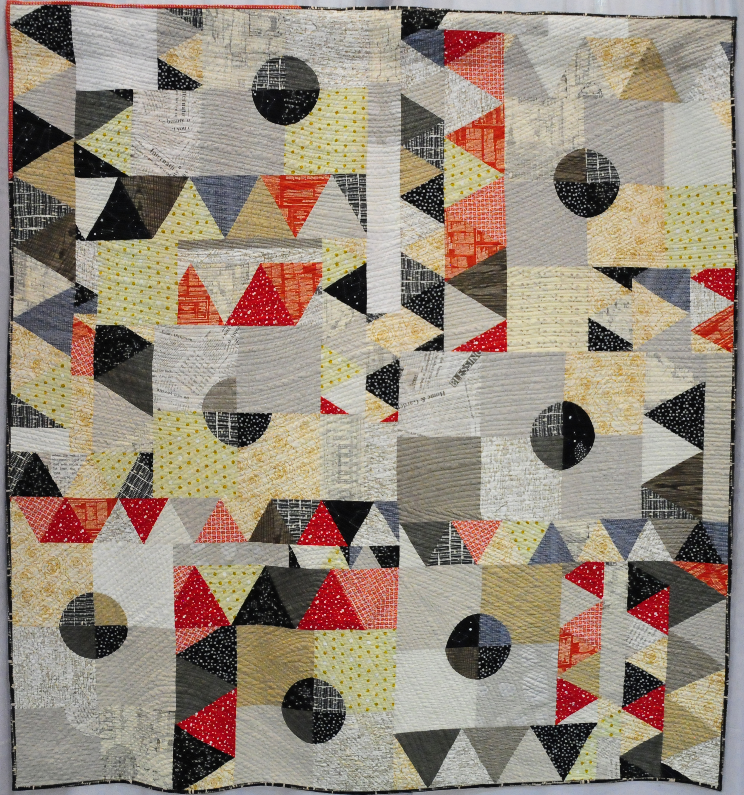 The Northern Flicker. A Quilt and a Bird. by Sarah Lowry ( @stitchingandbacon )