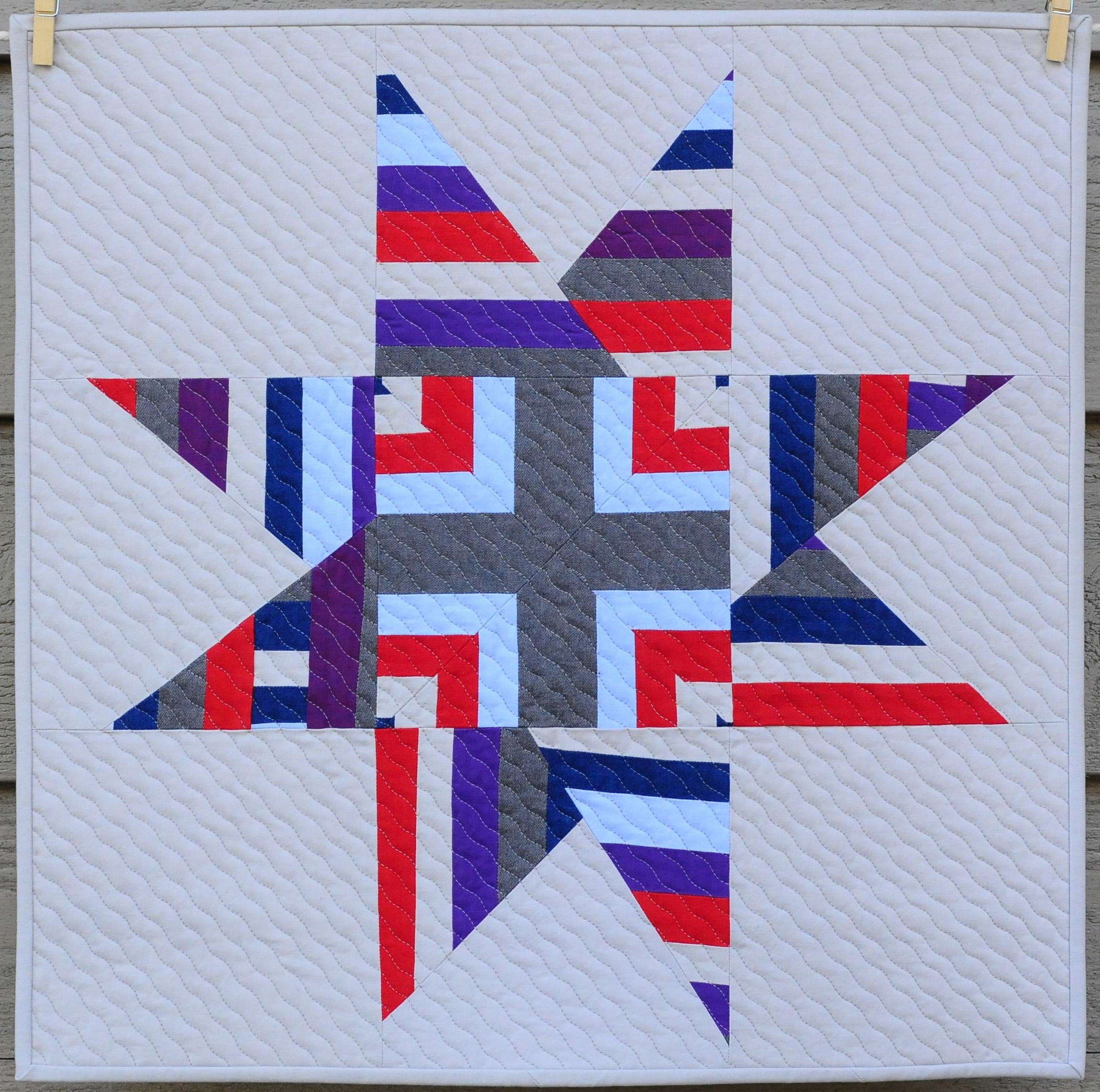 Star-Crossed Strings Sample, 22x22, sold