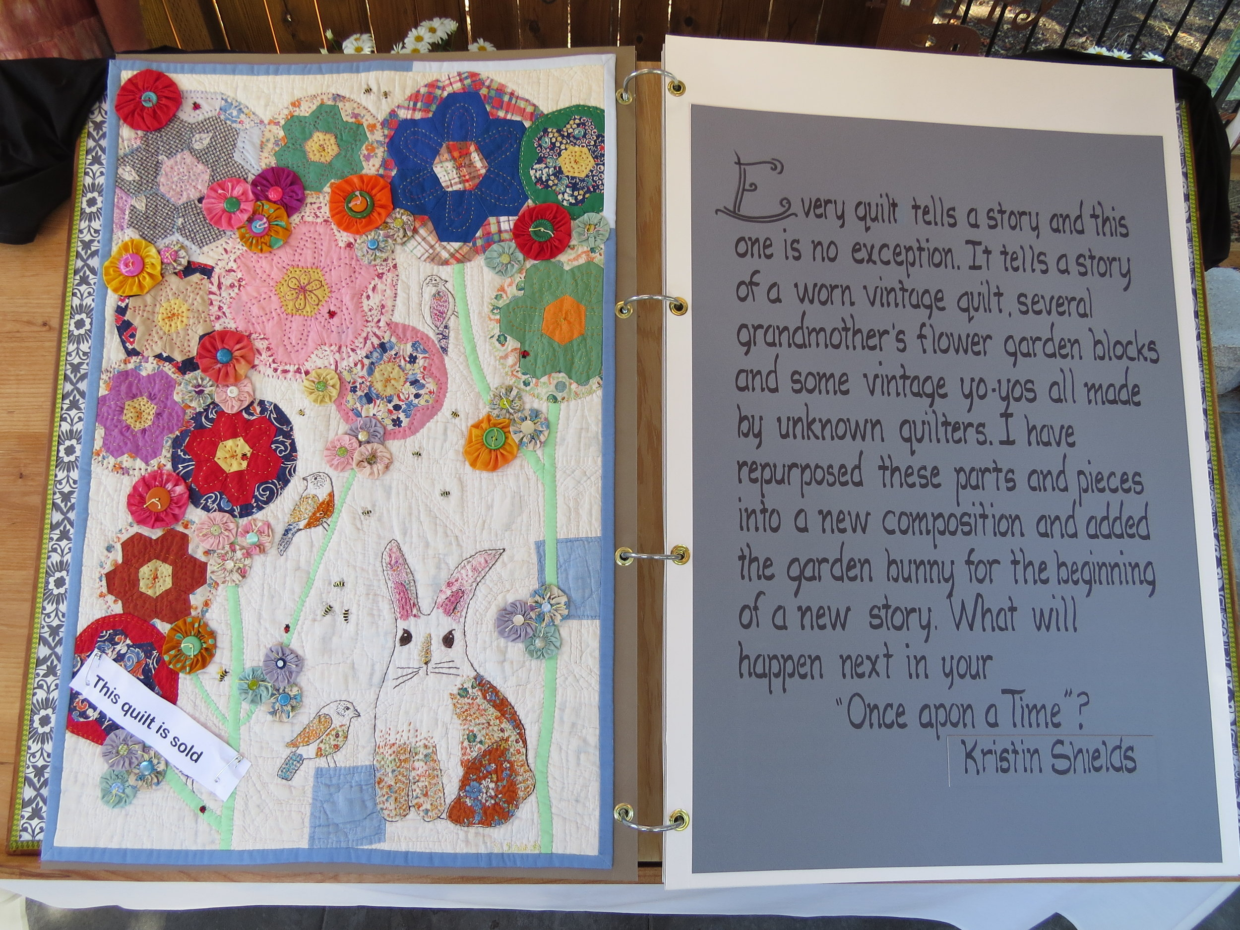 My Quilt!- Once Upon a Quilt by Kristin Shields, photo by Marion Shimoda