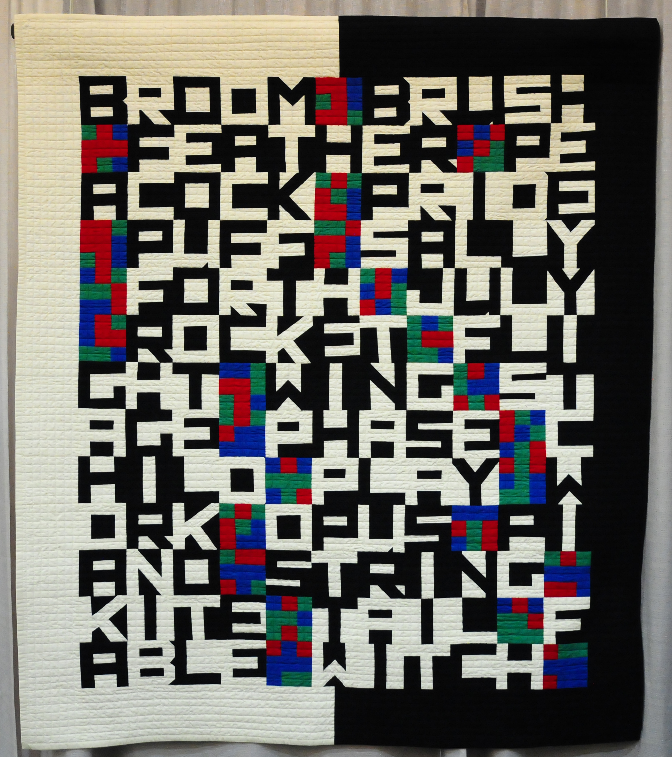 Word Play by Jill Ault (SAQA Presents:  Modern Inspirations- Art Quilts From the 1970s Through Today)