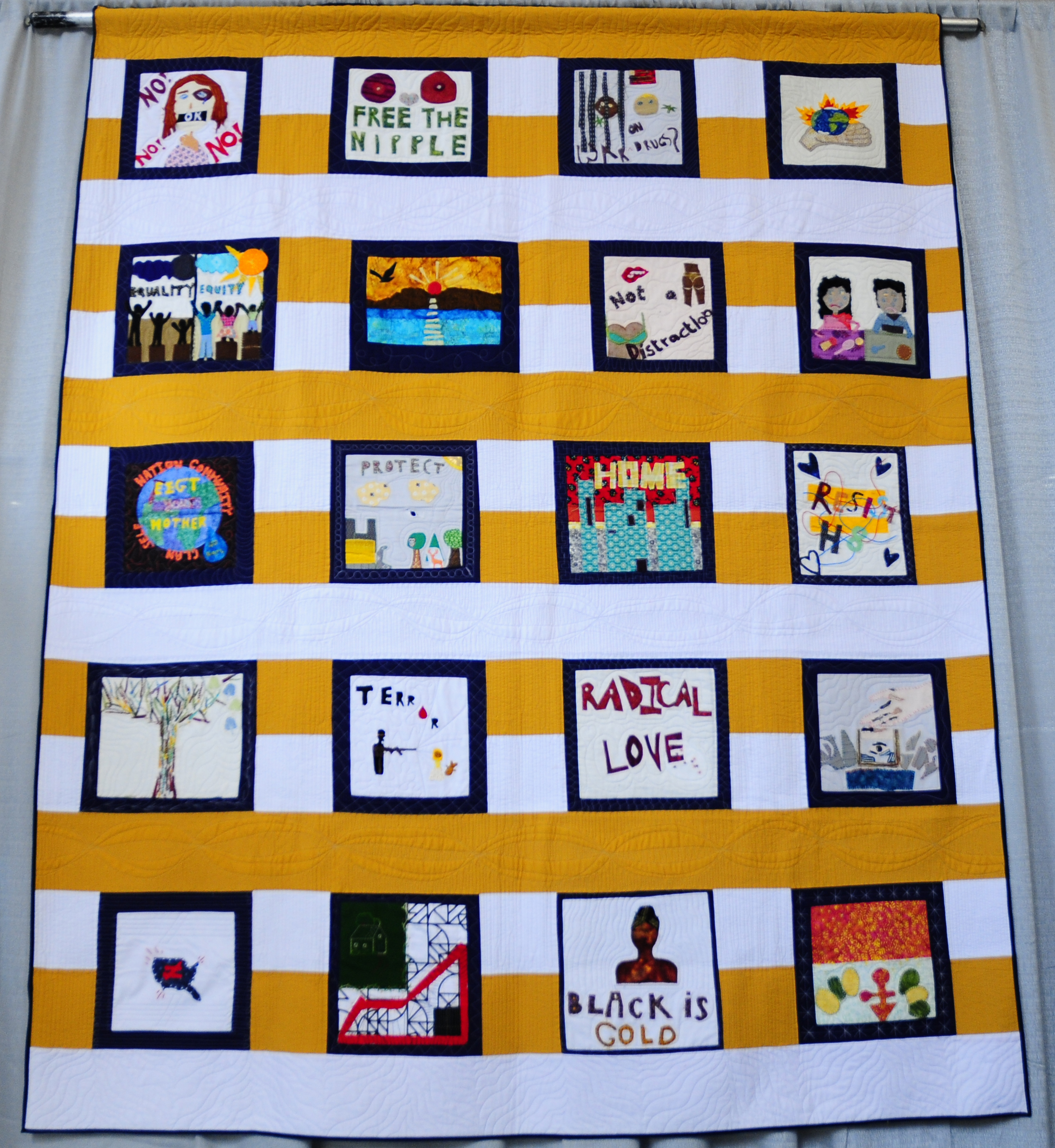 Social Justice Community Quilt by Social Justice Sewing Academy (Youth)