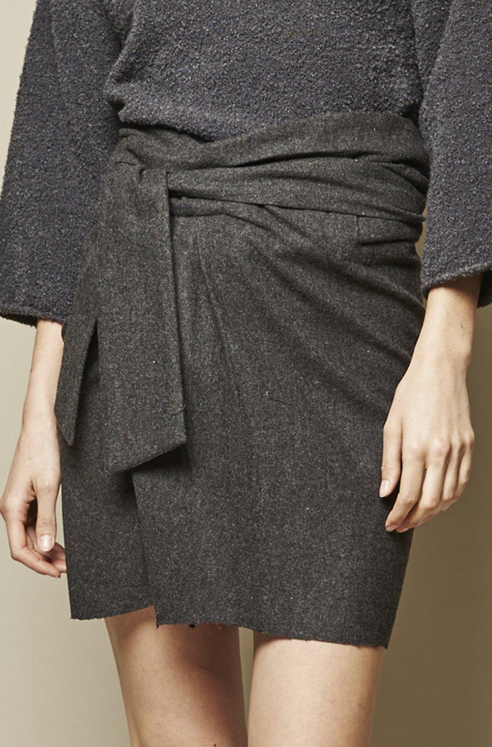Belted Wrap Mini-skirt