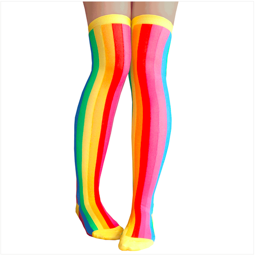 RAINBOW PSYCHEDELIC THIGH HIGHS $10.99