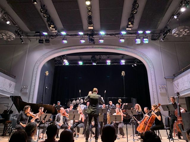 Thank you so much, @iceensemble and @n.de.maison for having us for this beautifully detailed and dense Ursula Mamlok Concertino. We had a great time playing with you all, and with @ensembleadapter, too! 👏👏👏👏. 📸 @russokatie