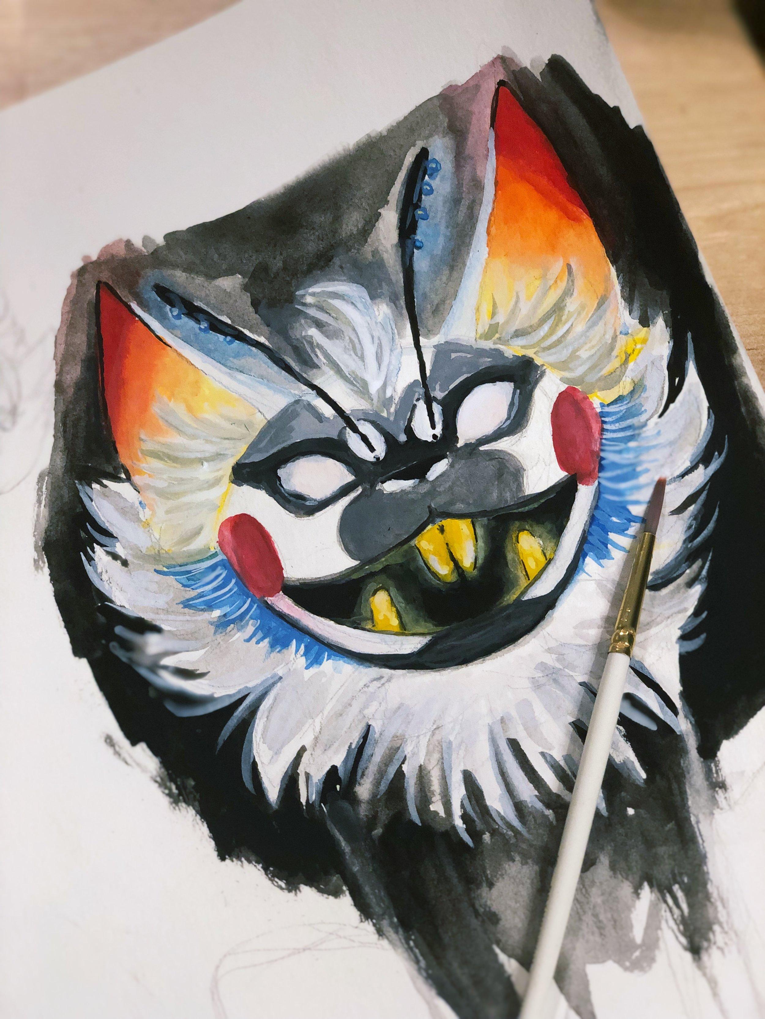 concept art for alien cat front