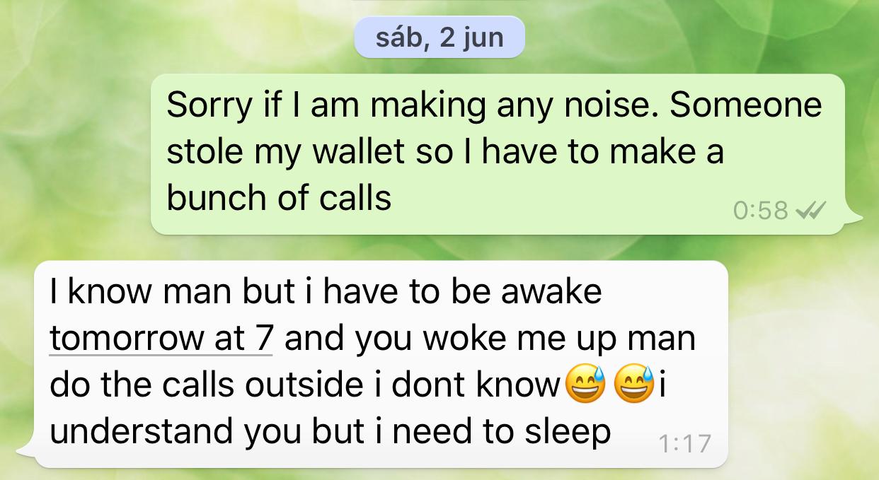 anxelo barcelona whatsapp text message