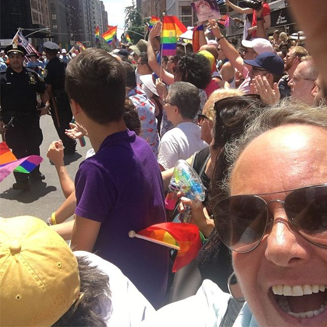 NYC Pride Parade 2019 4.5 million people watching and celebrating a great day in NYC a truly spectacular way to end our trip #loveislove #happypride #byemooandsam #NYC2019