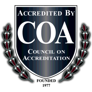 We are an officially accredited organization by the prestigious Council on Accreditation.