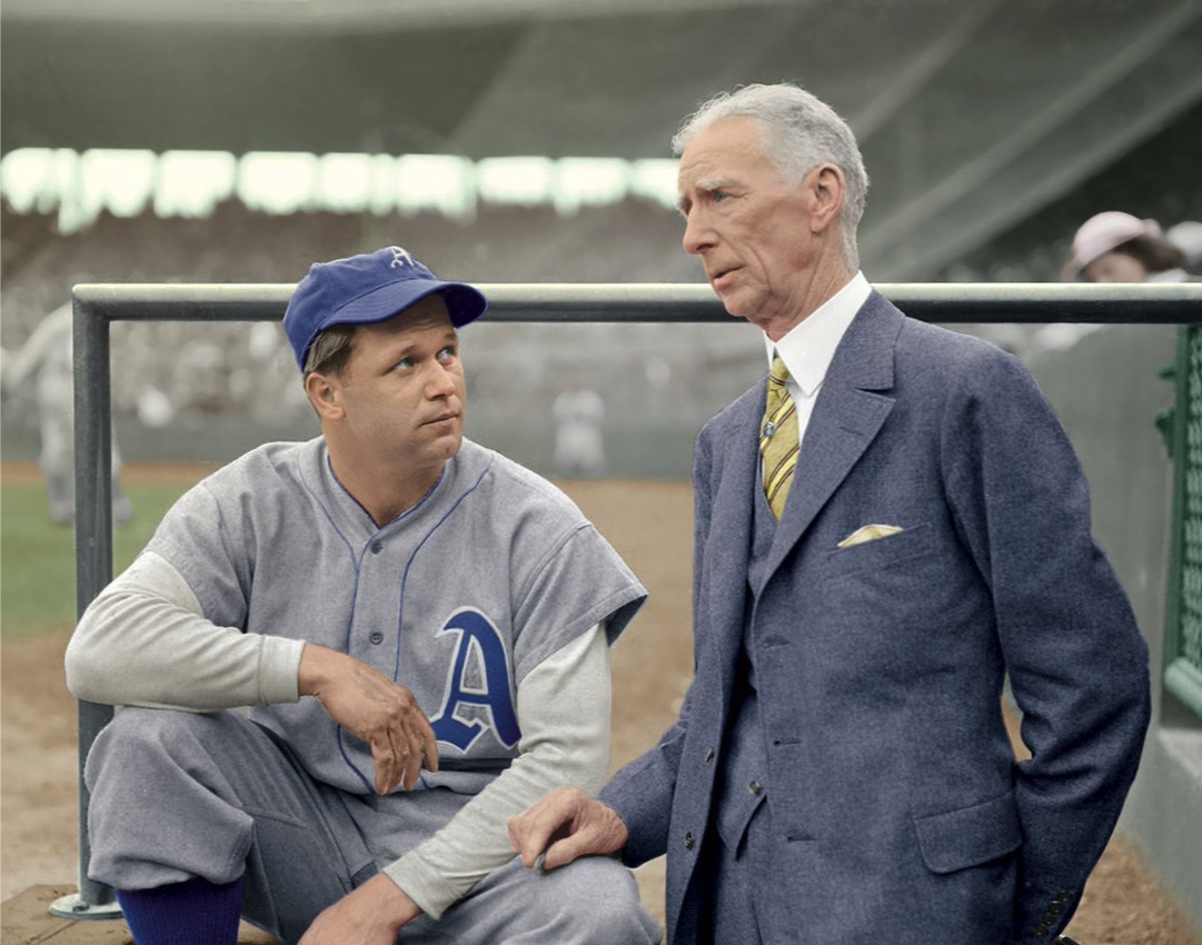 Jimmy Foxx and Connie Mack in 1933 (regenerated image)
