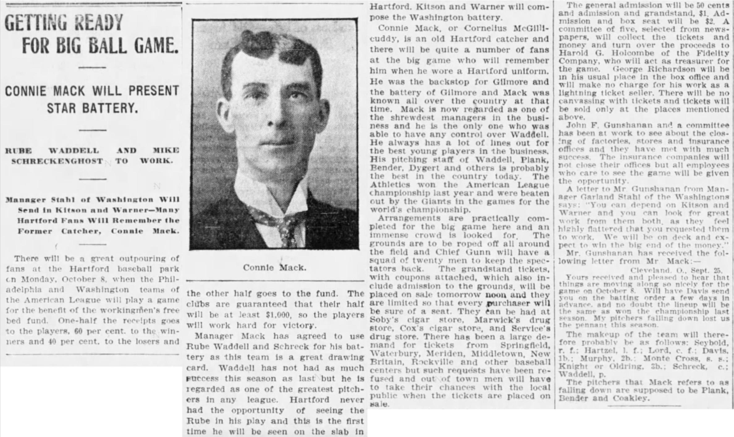 Hartford Courant excerpt, 1906.