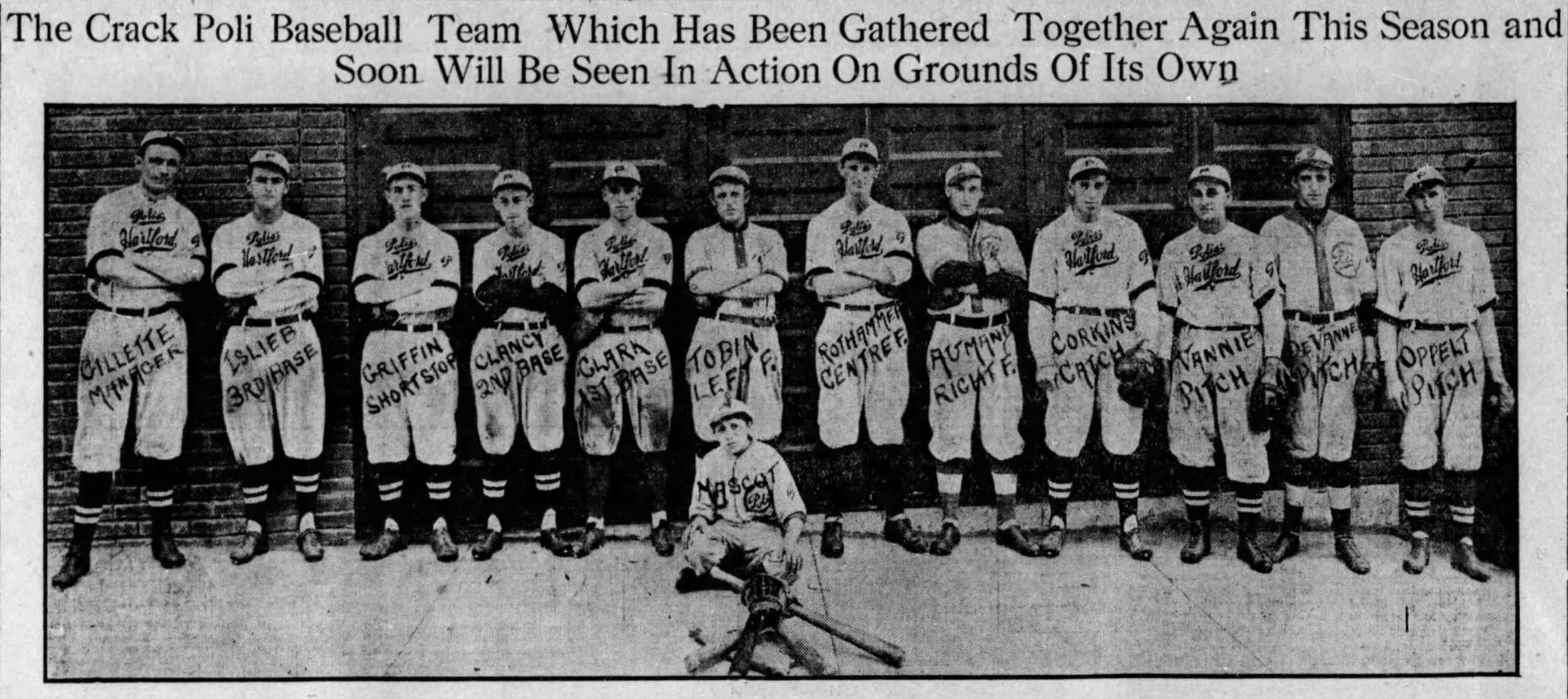 1915 Hartford Poli's Baseball Club