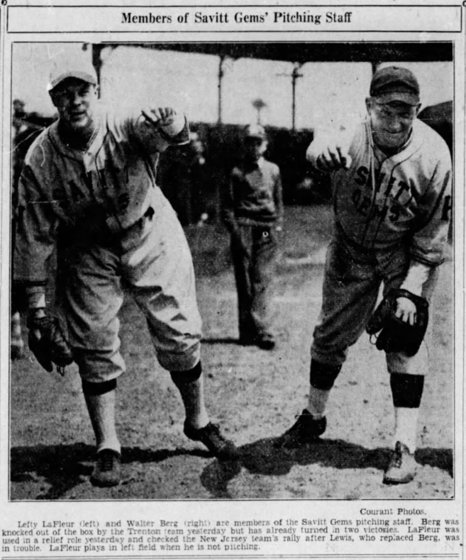 Lefty LaFleur and Walter Berg, 1936.