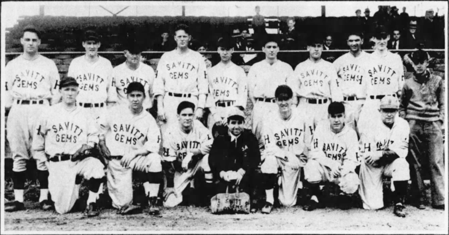 1936 Savitt Gems at Bulkeley Stadium.