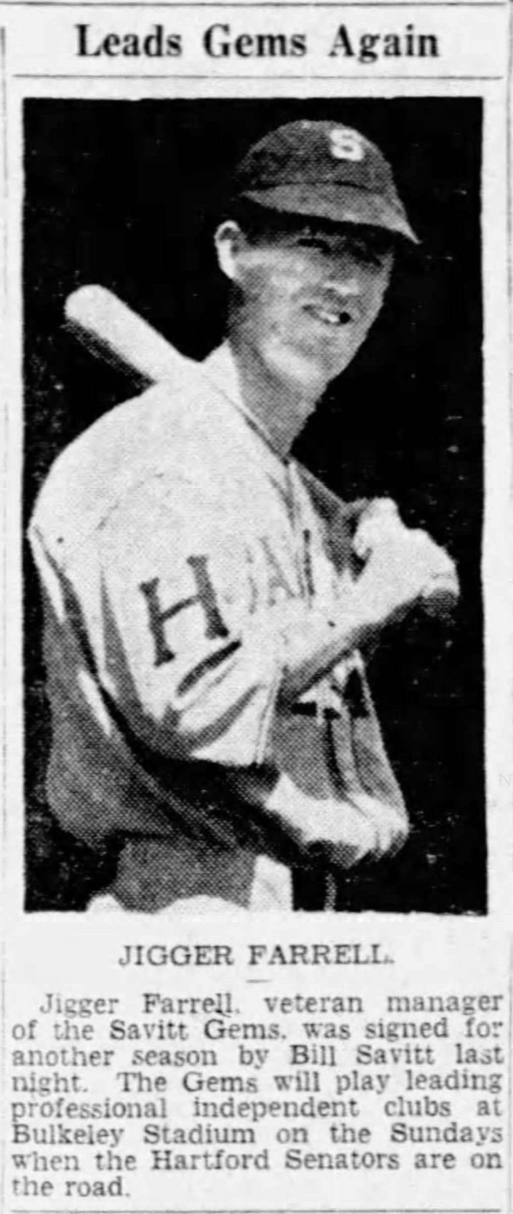 Jigger Farrell, Savitt Gems, 1945.