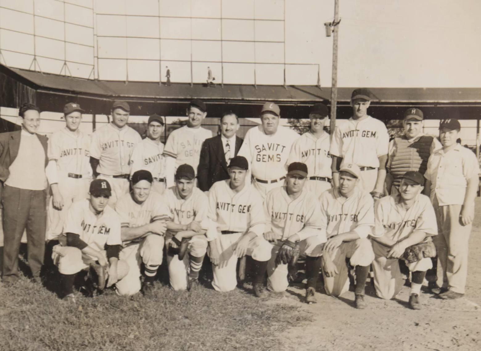 1945 Savitt Gems with Babe Ruth