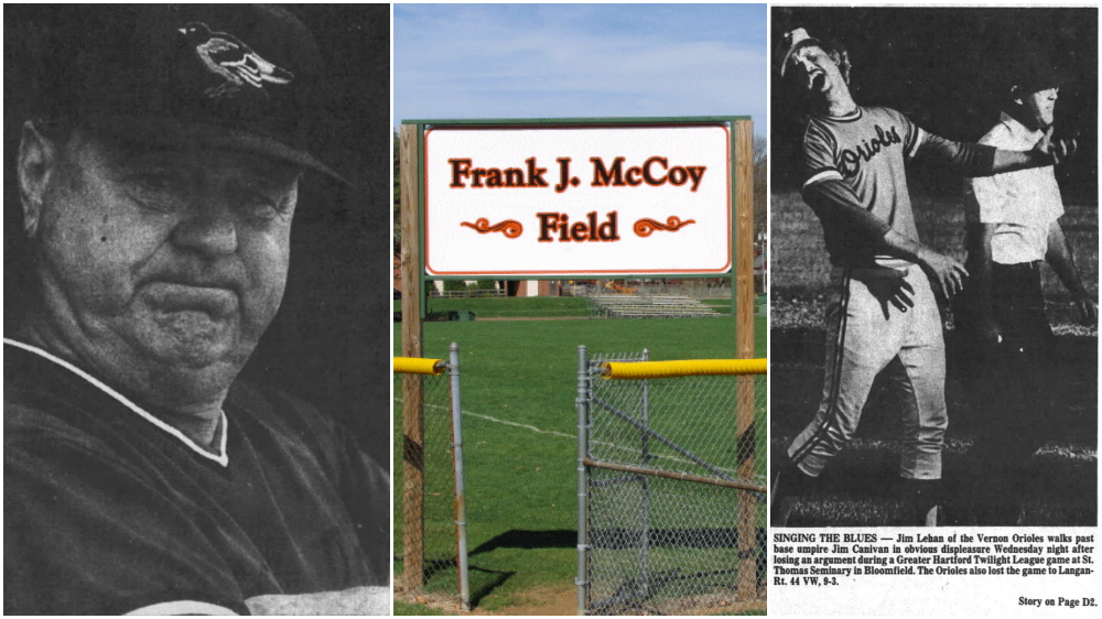 Frank McCoy and his Vernon Orioles.