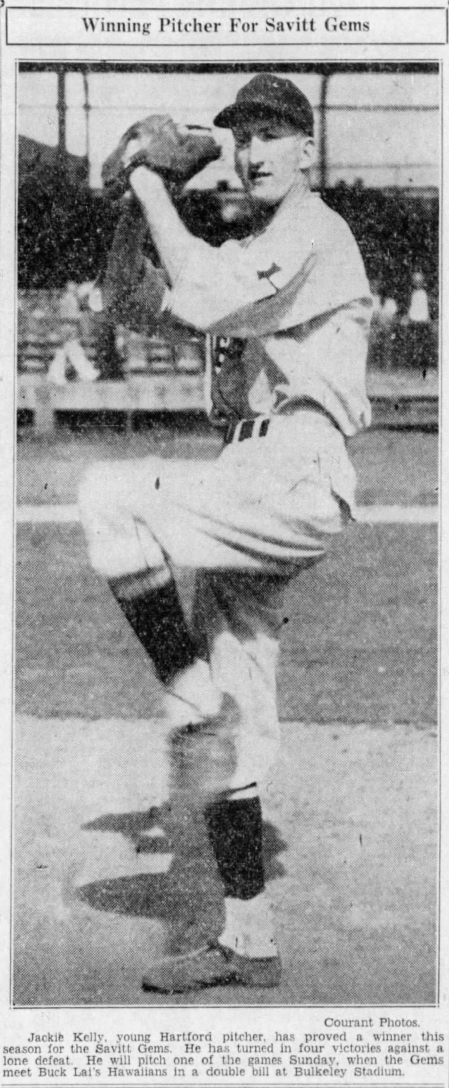 Jackie Kelly, Savitt Gems, 1936.