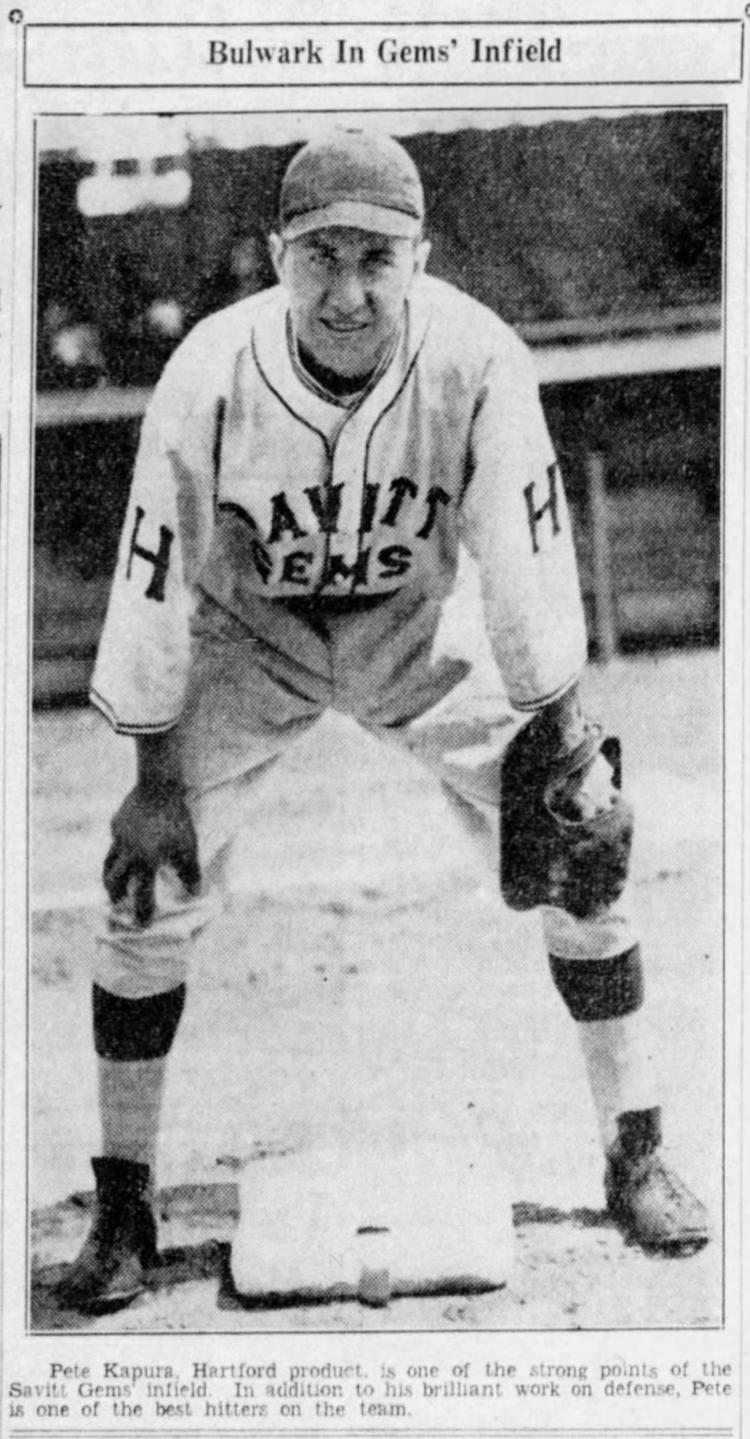 Pete Kapura, Savitt Gems, 1936.