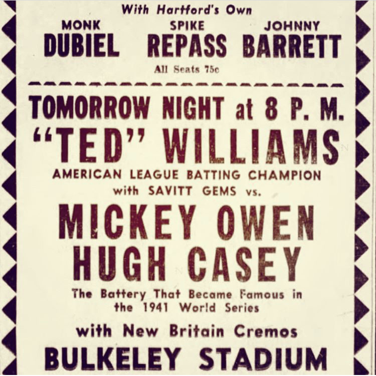 Ted Williams Savitt Gems Bulkeley Stadium.jpeg
