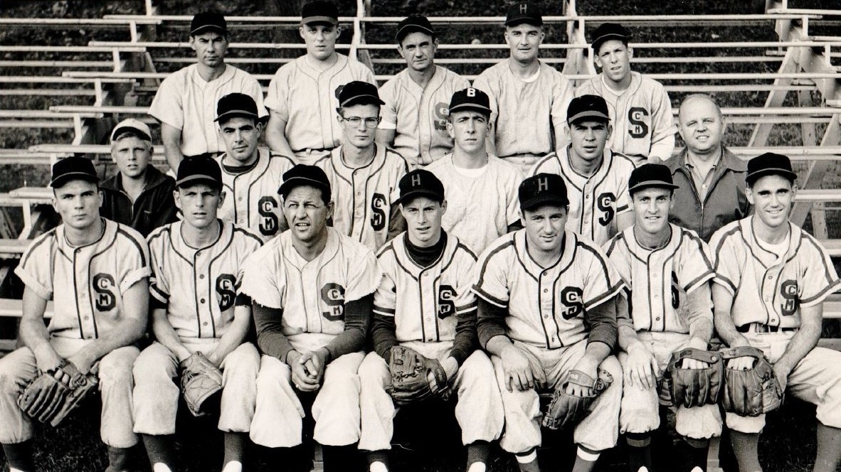 1957 St. Cyril's baseball club at Colt Park.