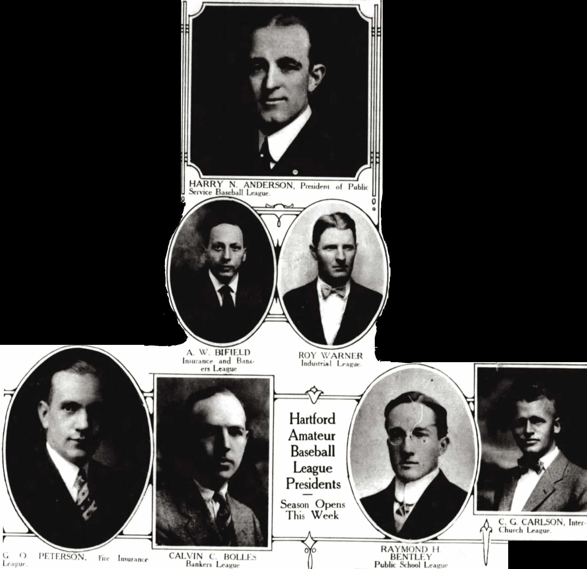 Hartford Amateur Baseball League Presidents, 1929