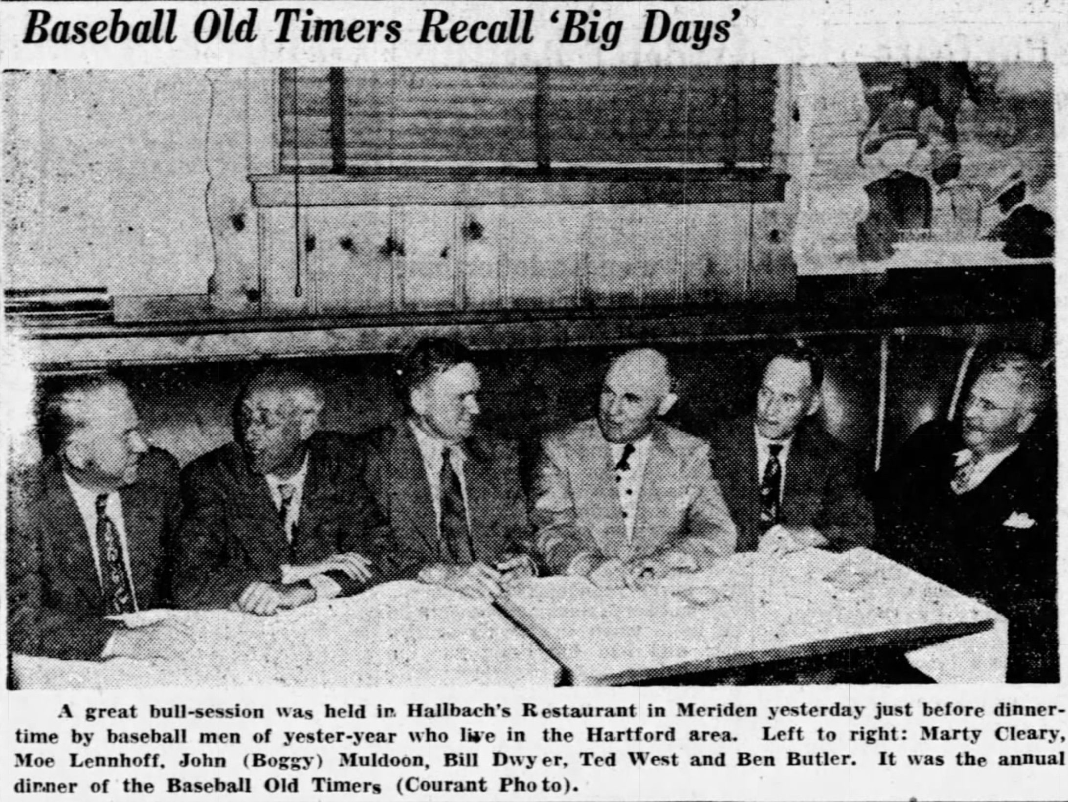 Old Timers Recall 'Big Days', 1951